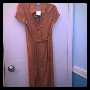 Midi Dress Gold/Creme